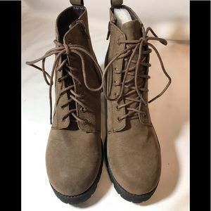 Soda Lace-Up Ankle Boots, New/No Box, Size 8.5